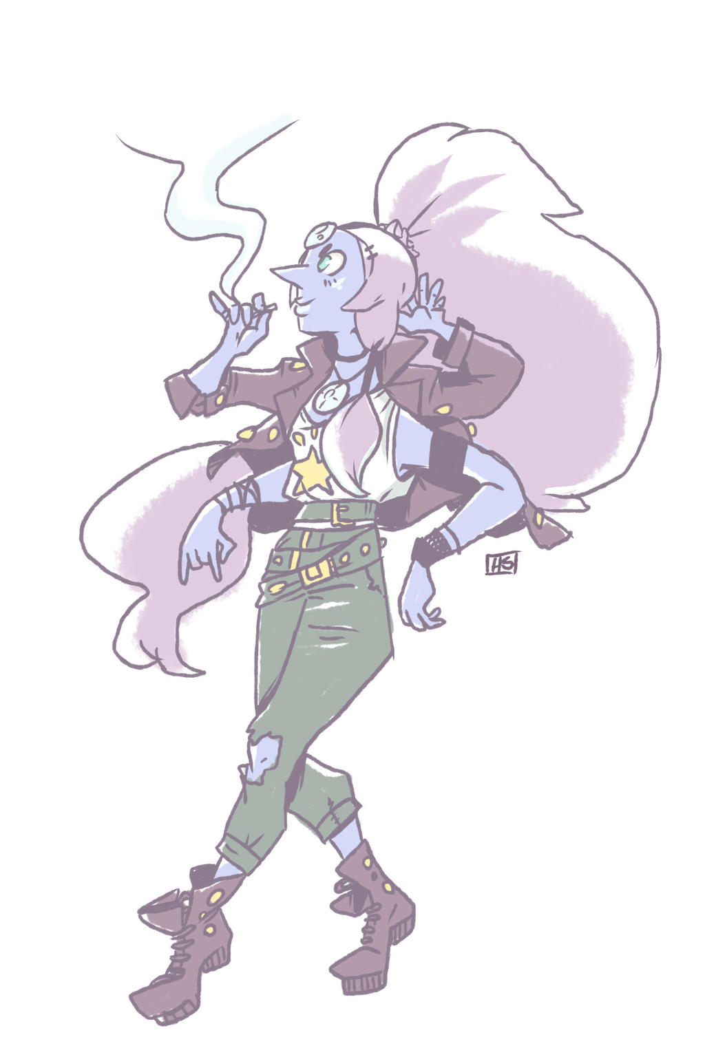 Gem Fusion: Opal by Honeysaberz on DeviantArt