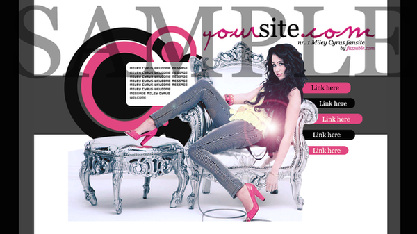 Fansite Premades - Miley Cyrus by msLana