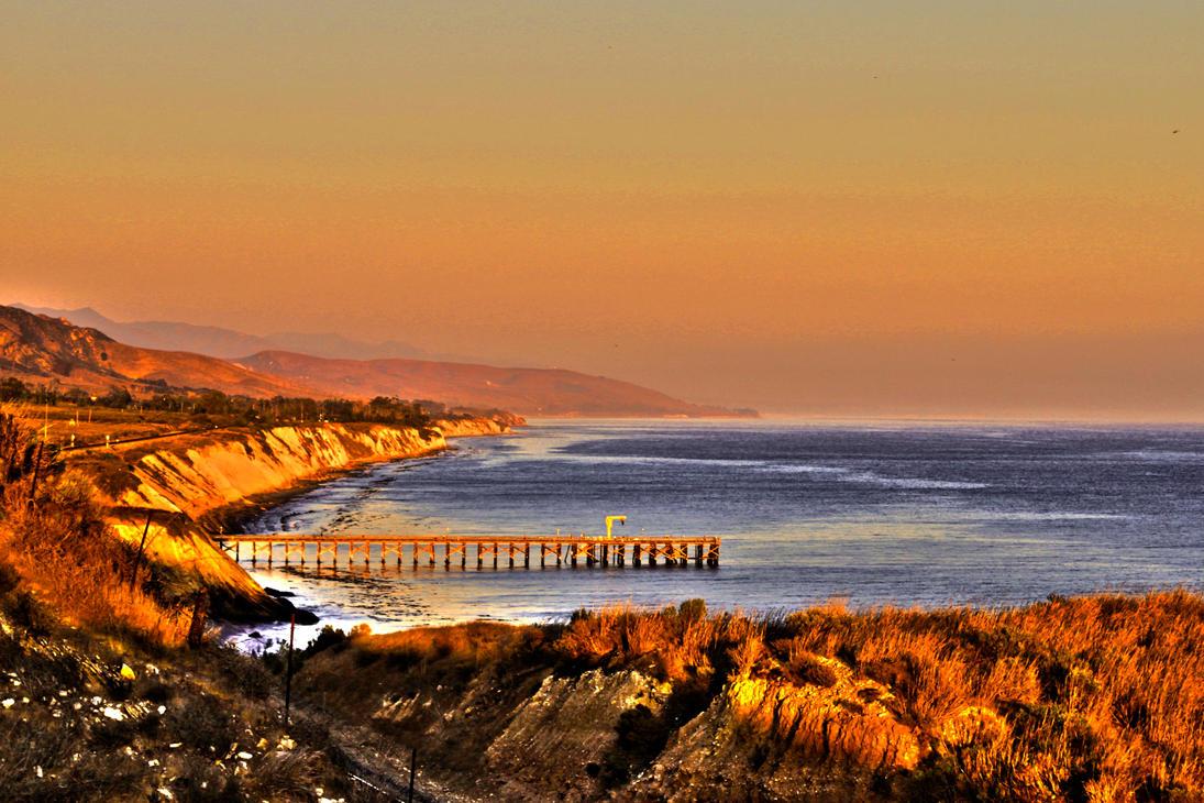 California Coastal Sunset by zootnik