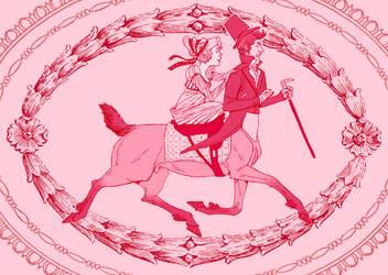Centaur Valentines Day Card by Morag-I