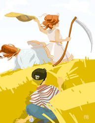Centaur in Her Field by Morag-I