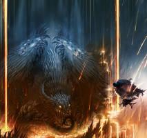 Lavastream Dragon by gegig