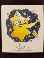 Inktober day 8: Star ft. Jirachi and Kirby by PinkPalkia