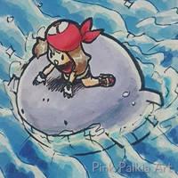 Surfin' in gen 3 by PinkPalkia