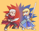 Saber and Archer