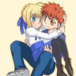 Saber and Shirou