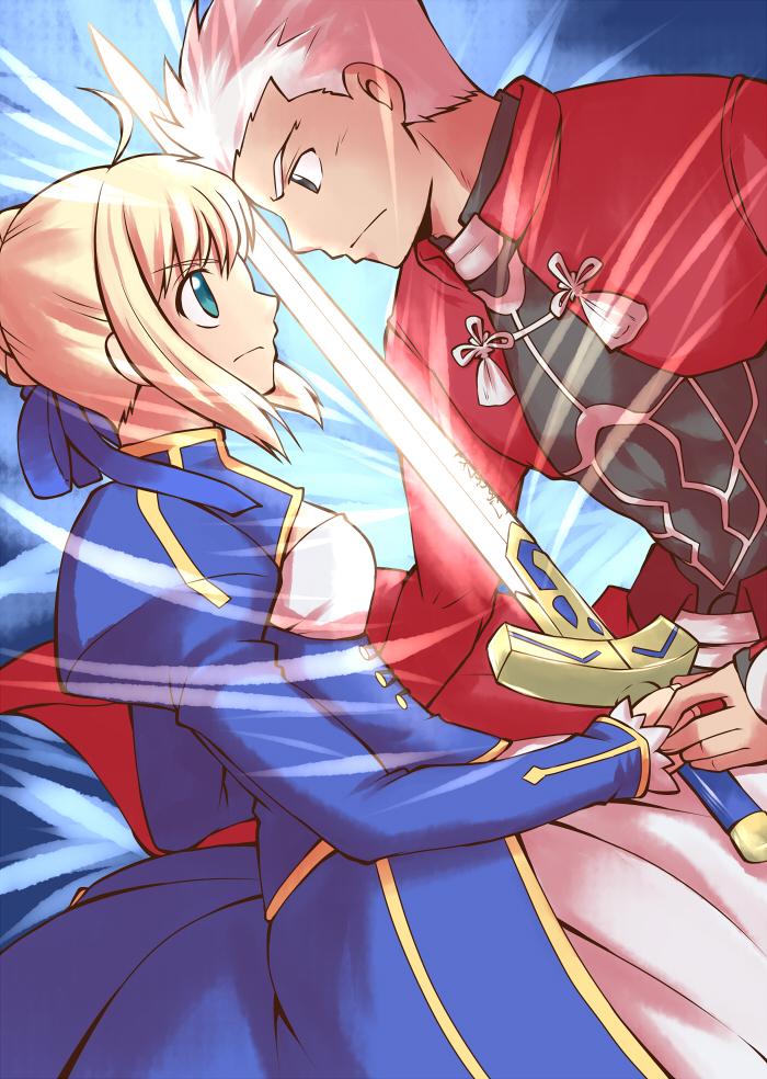 Archer/Saber by yuemaru