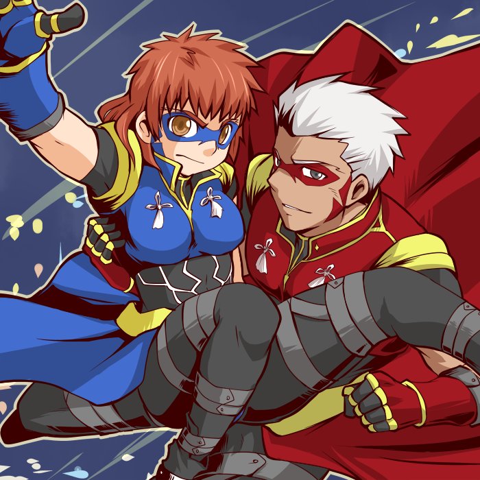 Archer and Shirou (woman) by yuemaru