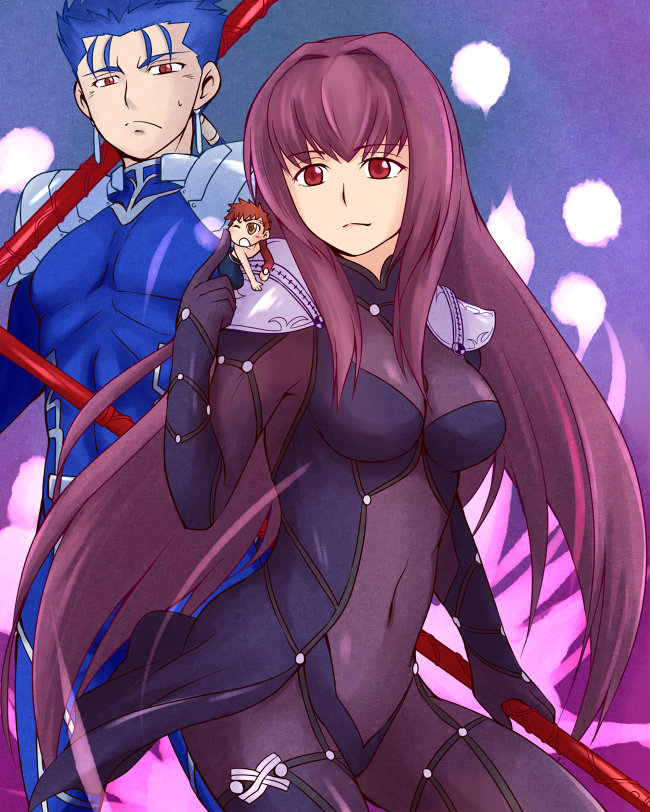 Lancer and Shirou by yuemaru