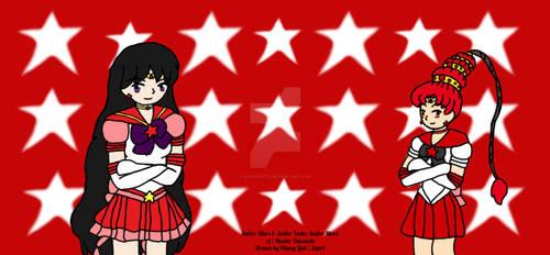 Eternal Sailor Mars and Eternal Sailor Vesta