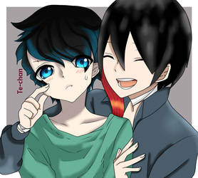 -P.C.- Michio and Makoto-kun