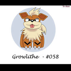 My first Fan Art! - Pokemon Growlithe