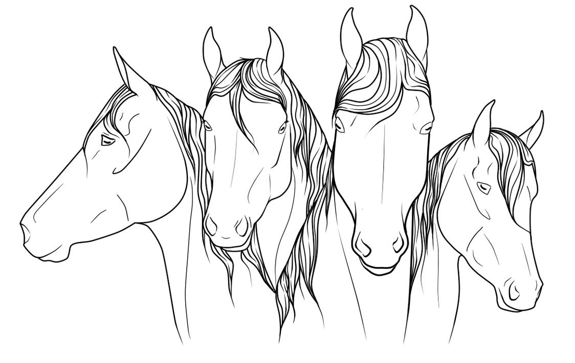 horse jumping coloring pages - photo#28