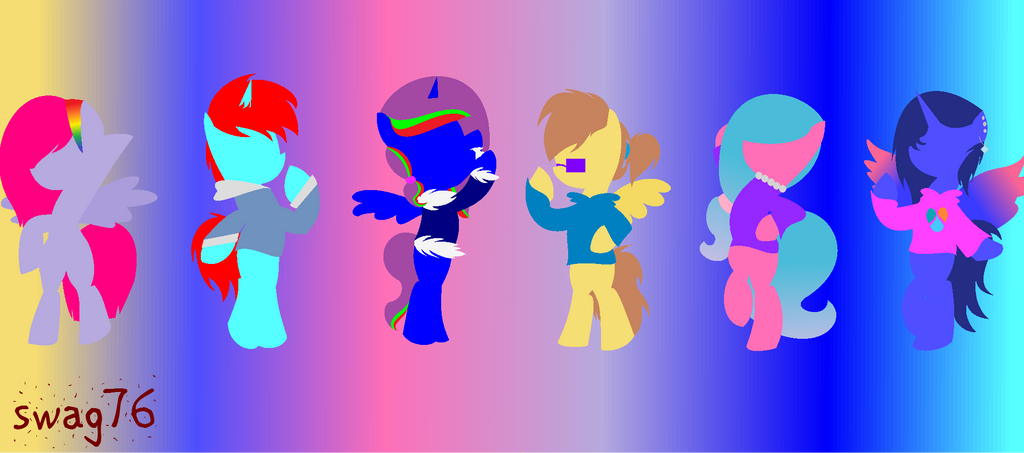 my mane 6 by swag76