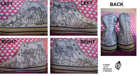 Shoeproject - Lineart version - WIP by Shadettaja