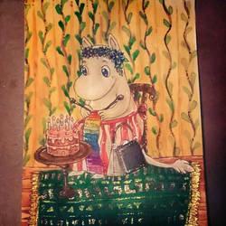 Moomin card by Shadettaja