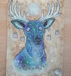 Galaxy Deer by Shadettaja
