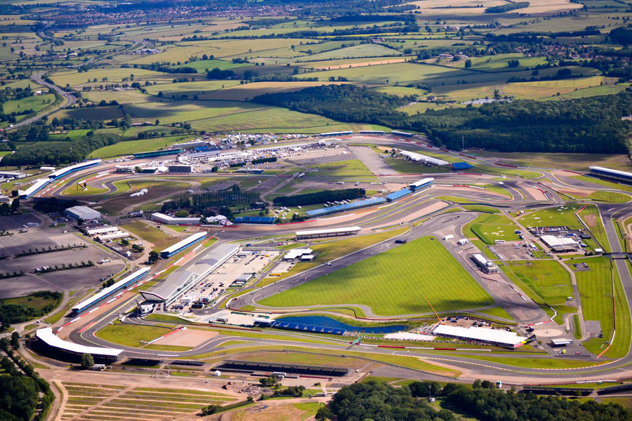 Silverstone Circuit as seen from above by bibiwannafly