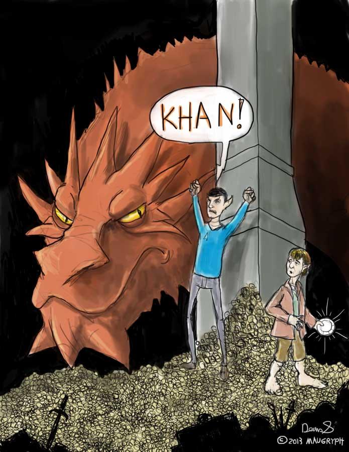 Khaaan! (Parody hybrid of Star Trek and Hobbit) by maugryph
