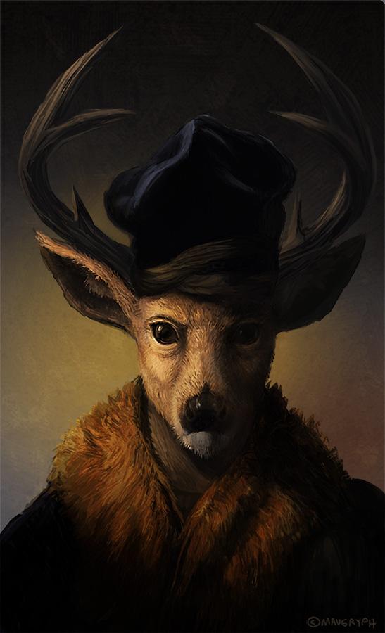 Renaissance Dear Portrait by maugryph