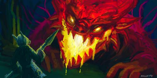 Man vs Lava Demon (D21)