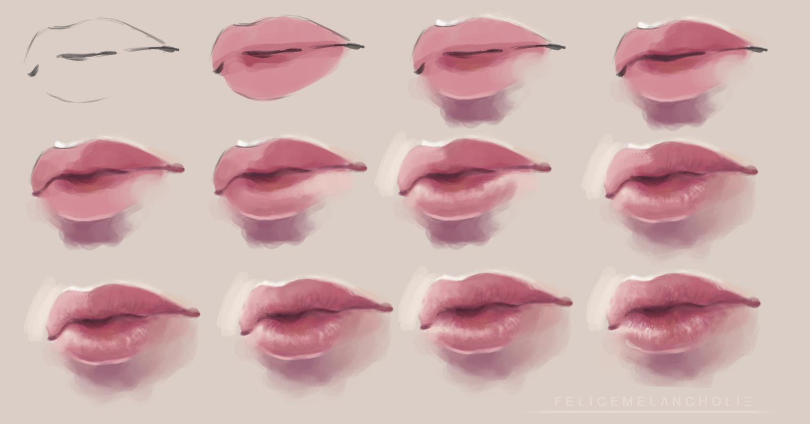 Realistic Lips Tutorial 2 By Artisticxhelp On Deviantart