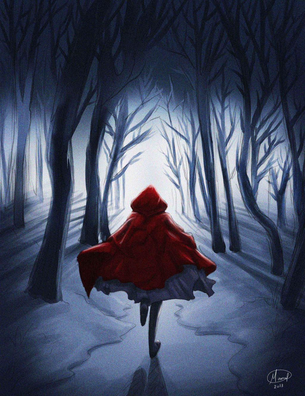 Running Away (red riding hood) by manalsh88 on DeviantArt