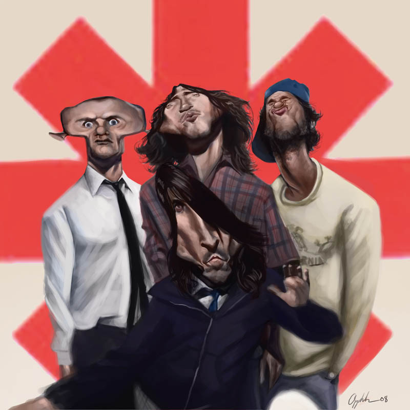 Red Hot Chili Peppers by bangalore-monkey