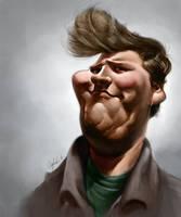 Self Caricature by bangalore-monkey