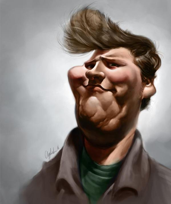 Caricaturas de famosos Self_Caricature_by_bangalore_monkey