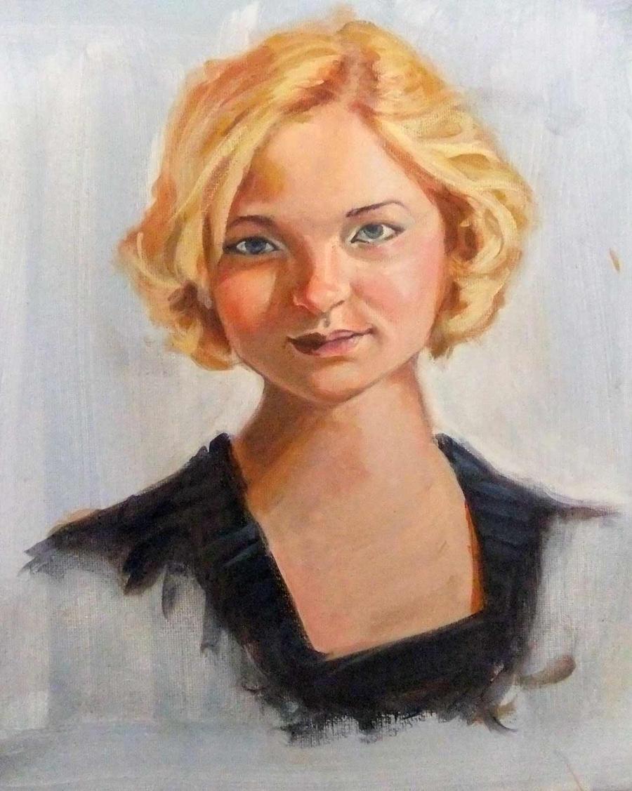 Portrait study by bangalore-monkey
