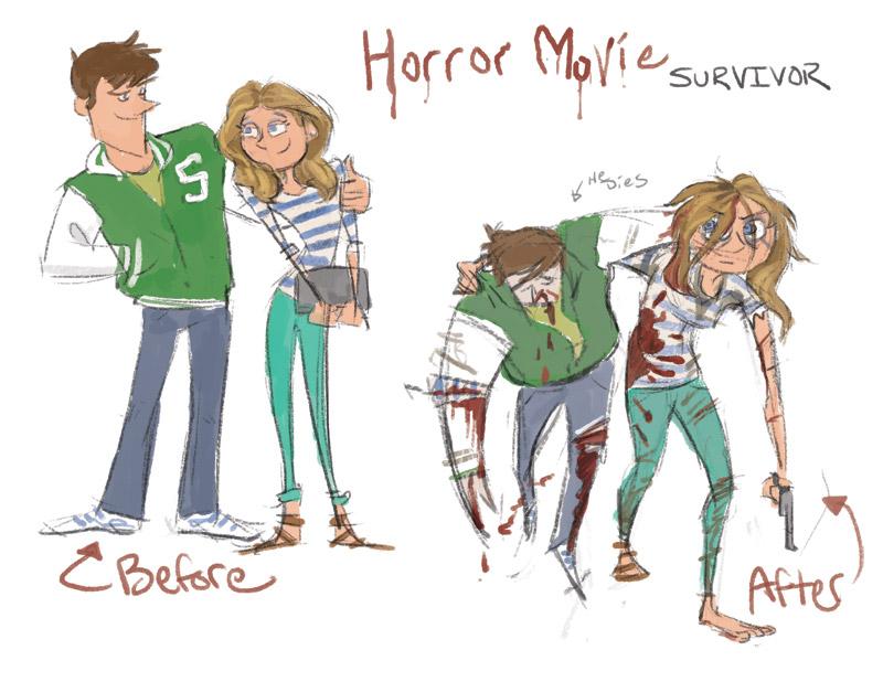Horror survivor Sketch by bangalore-monkey