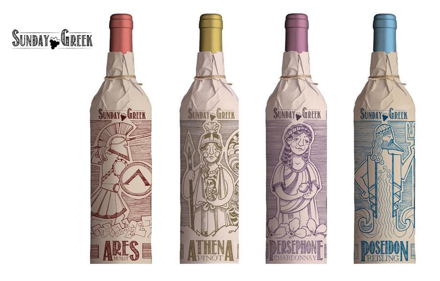 Wine bottle design lineup