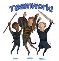 Teamwork by bangalore-monkey