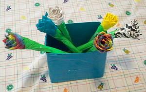 Duct tape Flowers + Vase