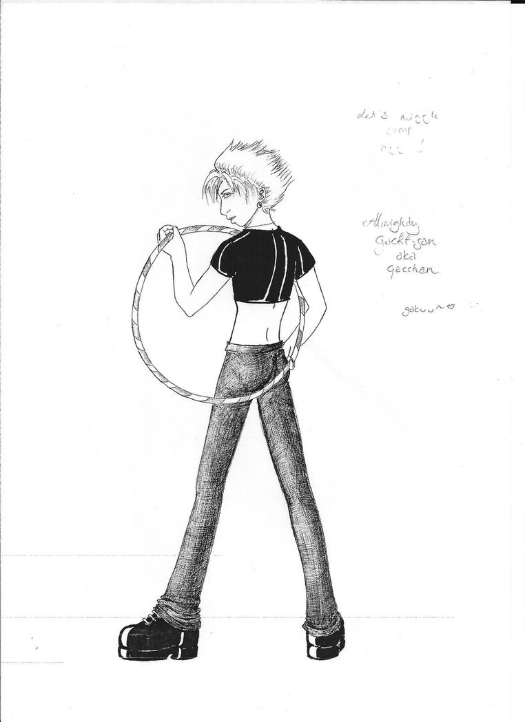 Gackt and hulahoop by byonin