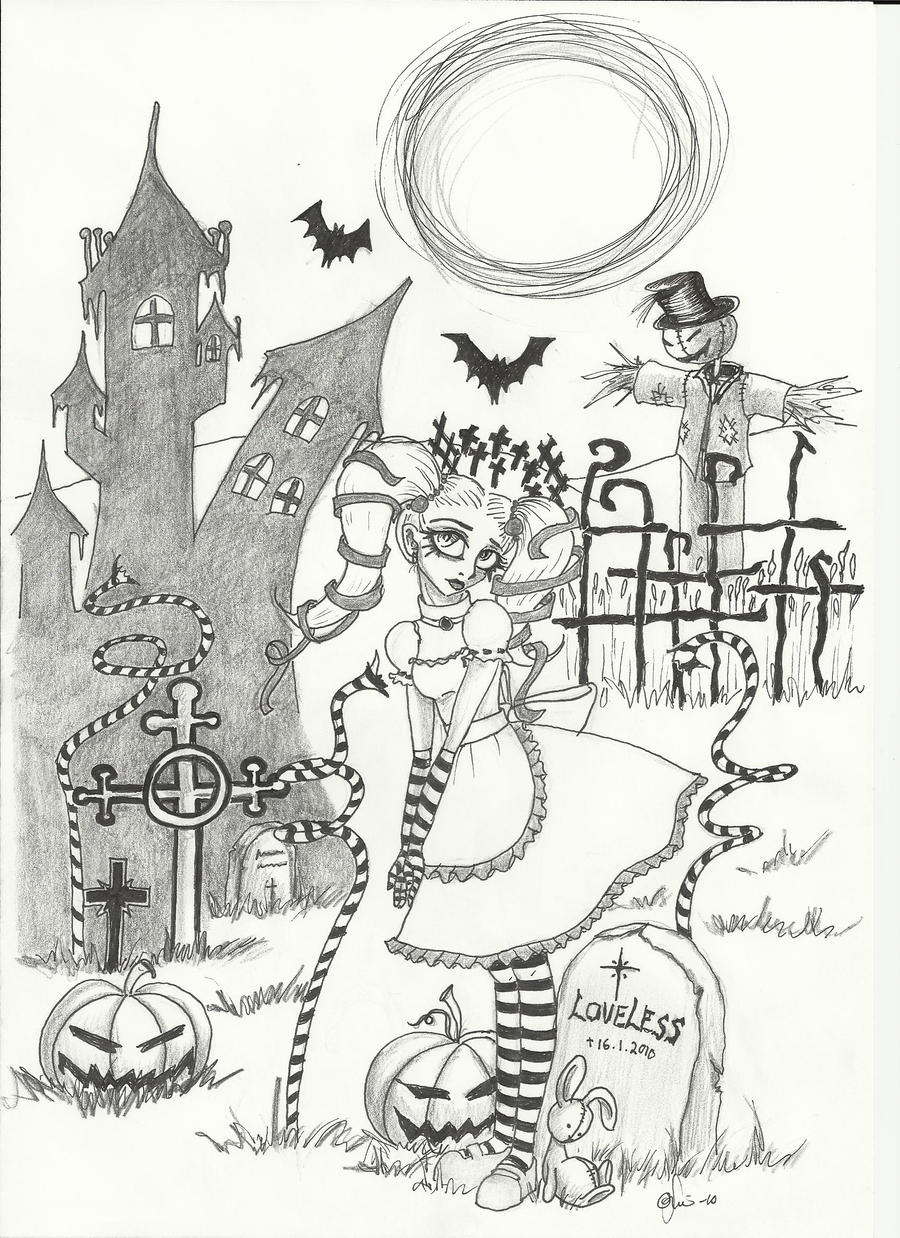 Alice in Halloweentown by byonin