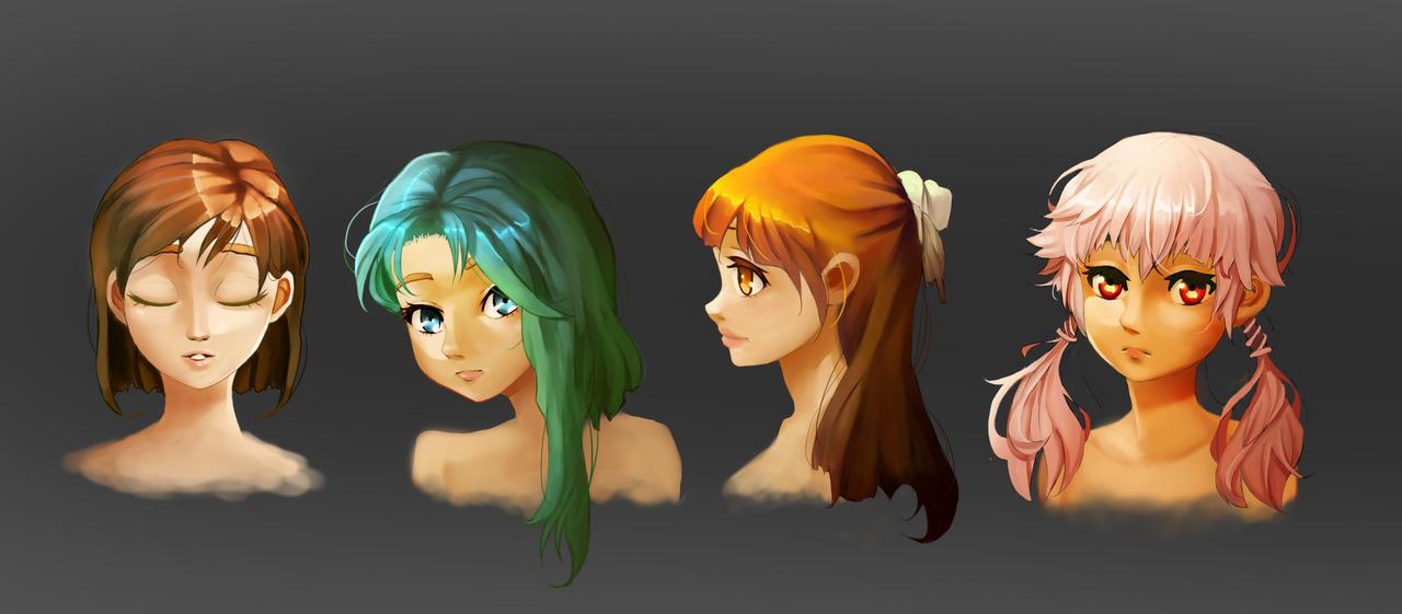 Hairs painting by BANJOVSOP