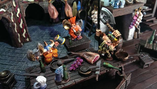 dwarfs on the kitchen