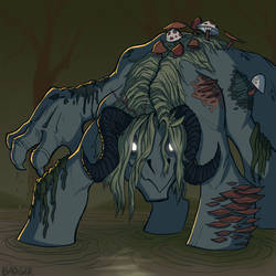 Swamp Monster by QuietBadger