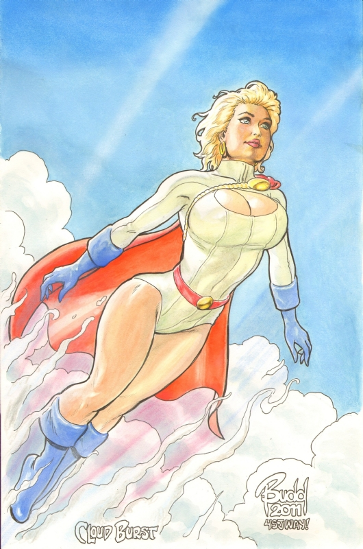 Powergirl - Cloud Burst by Bud Root by riverine69