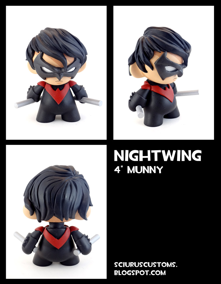 Nightwing Munny by FlyingSciurus