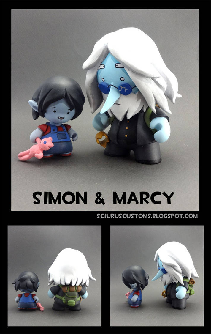 Simon and Marcy Munny set by FlyingSciurus