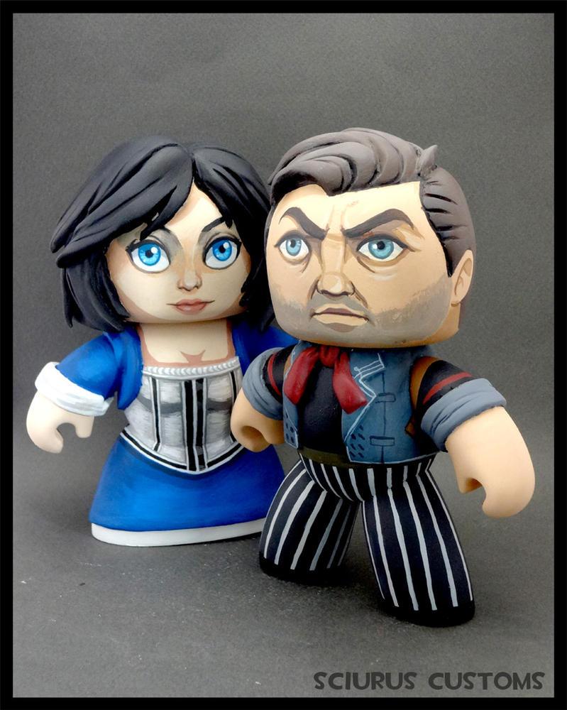Bioshock Infinite Booker and elizabeth customs by FlyingSciurus