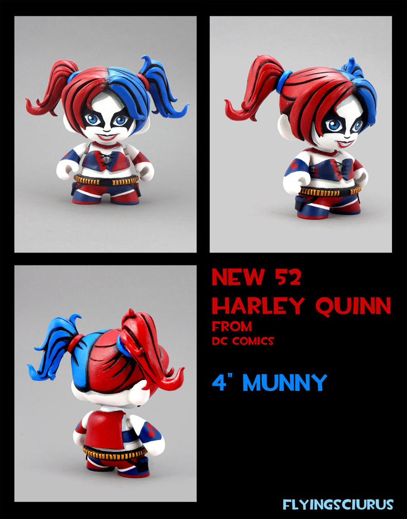 Harley Quinn (New 52 version) munny by FlyingSciurus
