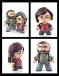 Joel and Ellie Last of Us custom figure set