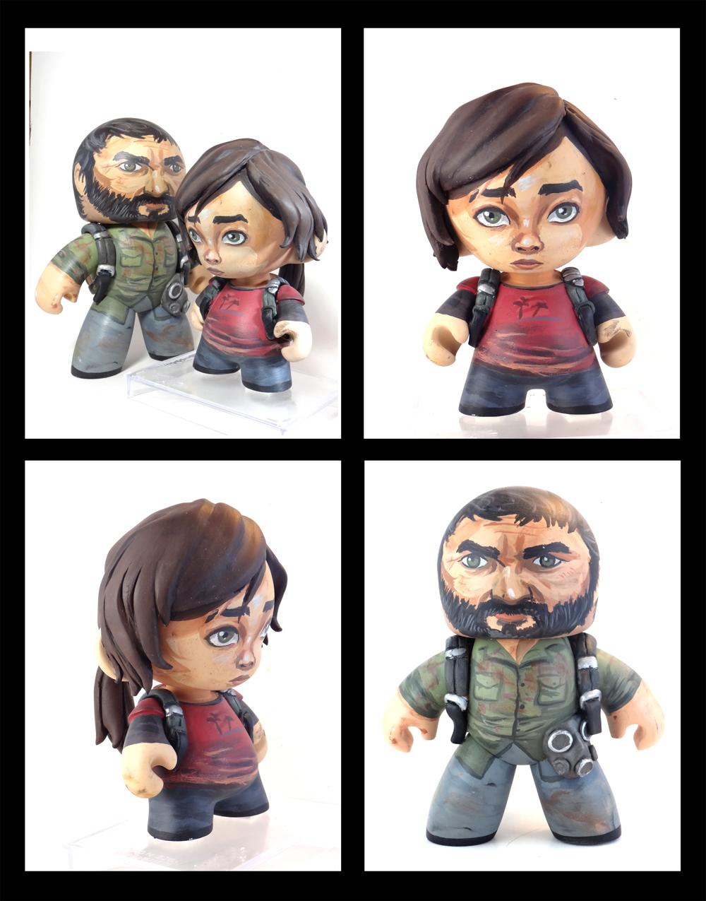 Joel and Ellie Last of Us custom figure set by FlyingSciurus