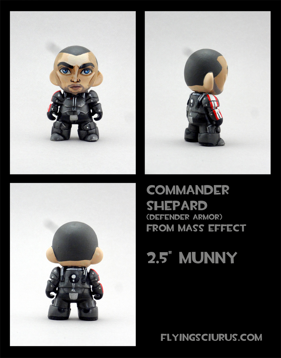 Commander Shepard custom munny by FlyingSciurus