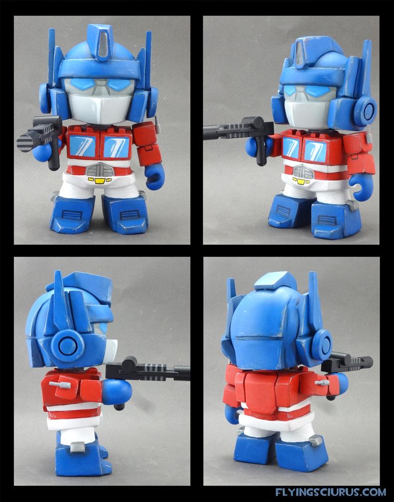 Optimus Prime custom munny by FlyingSciurus