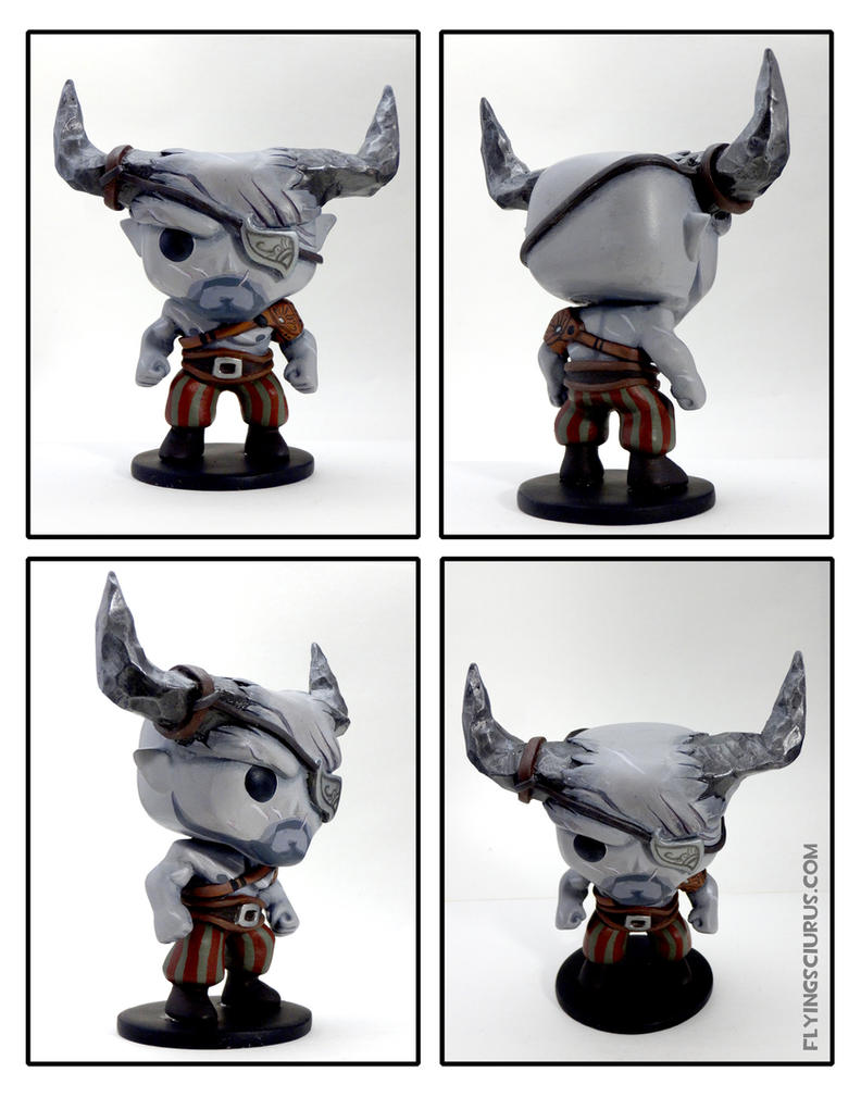Custom The Iron Bull Funko Pop by FlyingSciurus